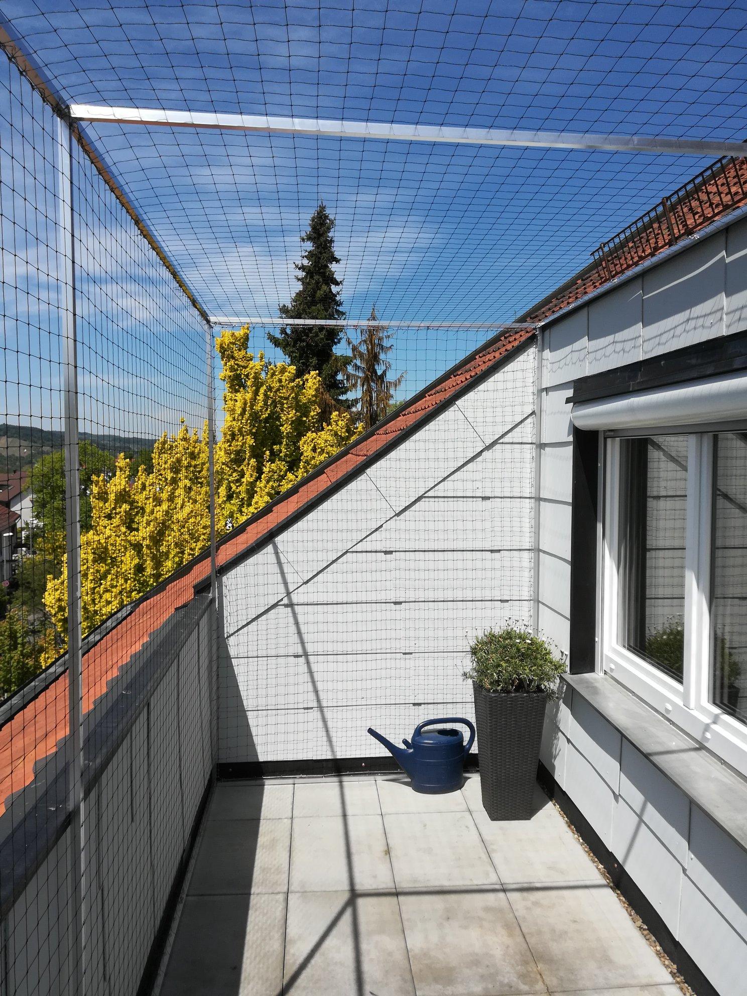 Katzennetze am Balkon
